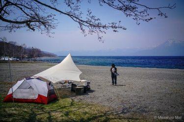 今年最初のcamp vibesは支笏湖モラップキャンプ場