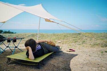 Thermarest【Ultra lite cot】を初日に破いた話